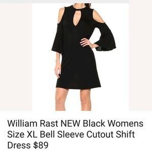 William rast Cutout Bell Sleeve shift dress
